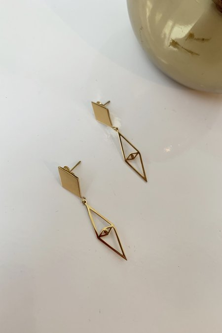 Ellie Vail Jewelry Gigi Earrings - 18K Gold Plated