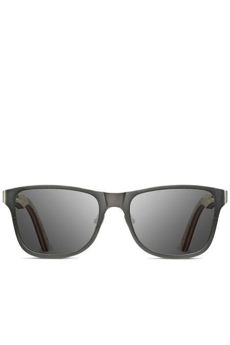 Unisex Shwood Canby Sunglasses - Titanium Gunmetal Walnut