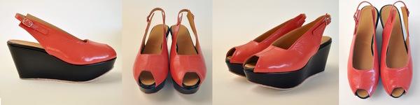 The Palatines levo slingback wedge sandal