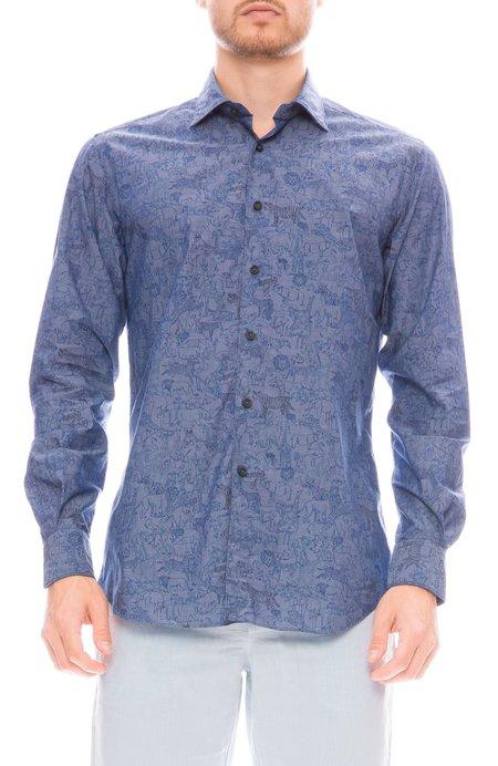 RON HERMAN X XACUS Safari Print Chambray Shirt