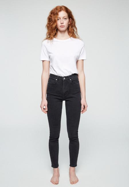 Armedangels Ingaa High Waist Denim Jeans - Washed down black