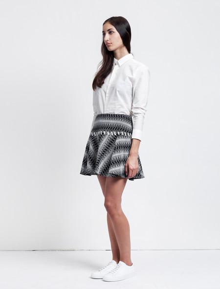 Thakoon Addition Cotton Tweed Full Skirt
