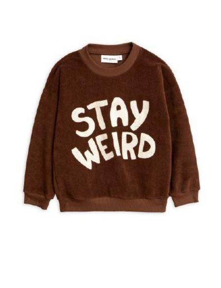 Kids Mini Rodini Stay Weird Terry Sweatshirt