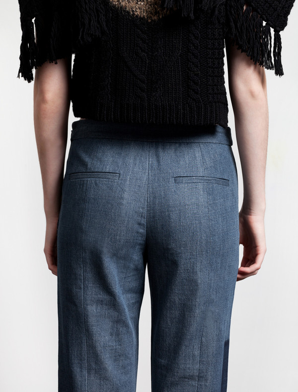 Thakoon Addition Cross Front Pant | Blue