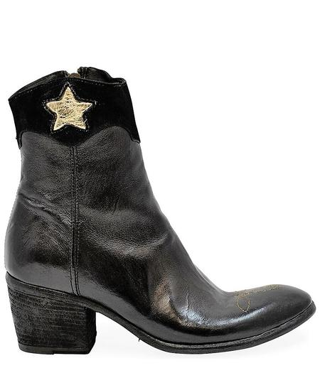 Madison Maison By Fauzian Jeunesse Leather Boot With Gold Star Detail - Ebano