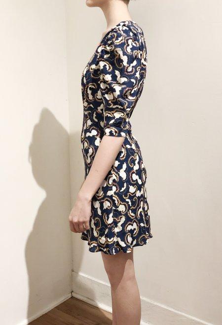 Saloni Colette Mini Dress - NAVY/DAYBREAK