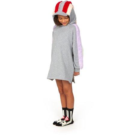Kids Wauw Capow By Bang Bang Copenhagen Hanna Dress - Grey