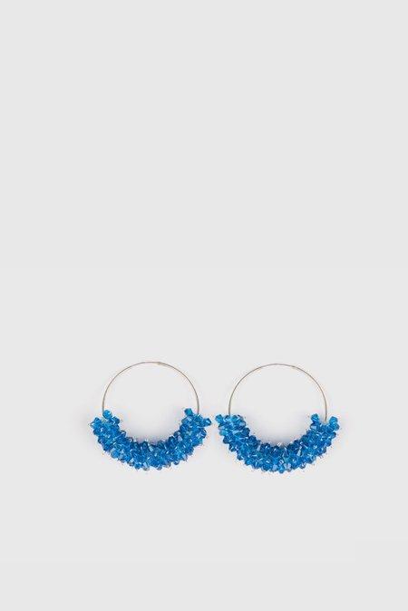 Bluemly Queen Bee Silver Hoop Earrings - Date Night