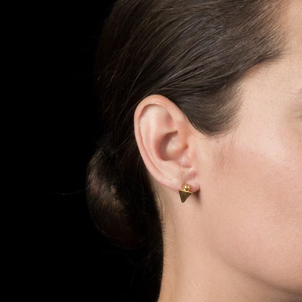 Alynne Lavigne Triangle/Ball Earrings