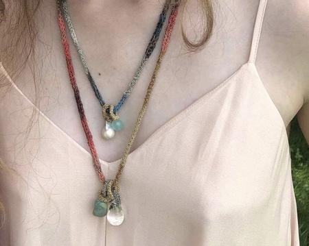 LA VIE BOHEME L.V.B. Chain Neckalce - pearl/quartz