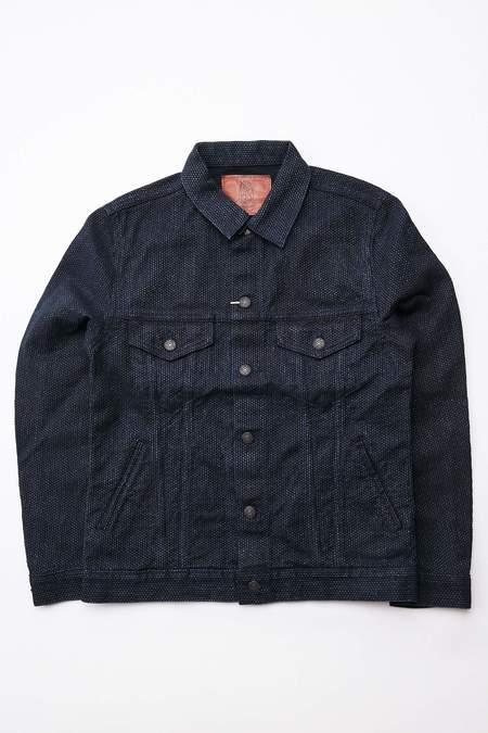 Pure Blue Japan 6097 Sashiko Denim Type 3 Jacket - Double Indigo