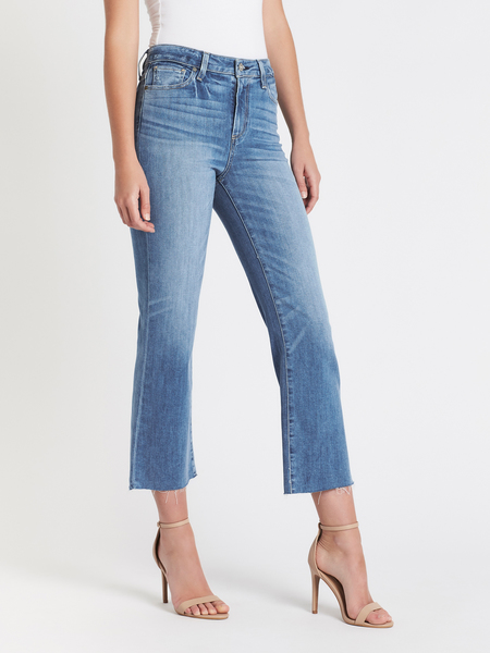 Paige Atley Ankle Flare Jean - Mid Denim