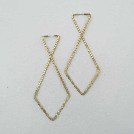 Essie Day Cross Hoops - Brass