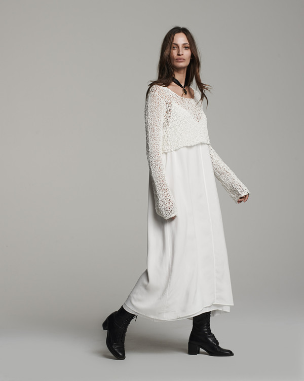 Voz Loose Knit Cropped Sweater