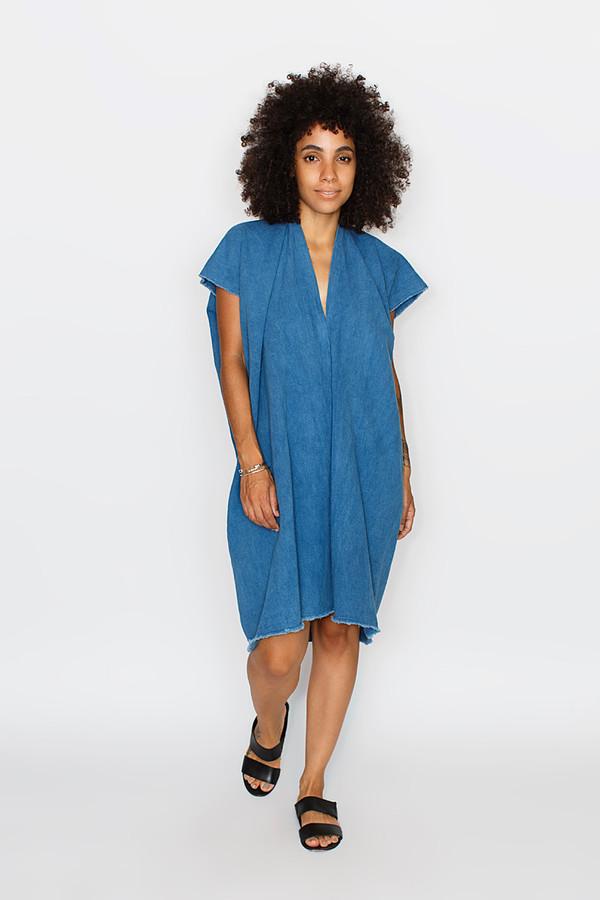 Miranda Bennett Indigo Everyday Dress | Cropped Denim