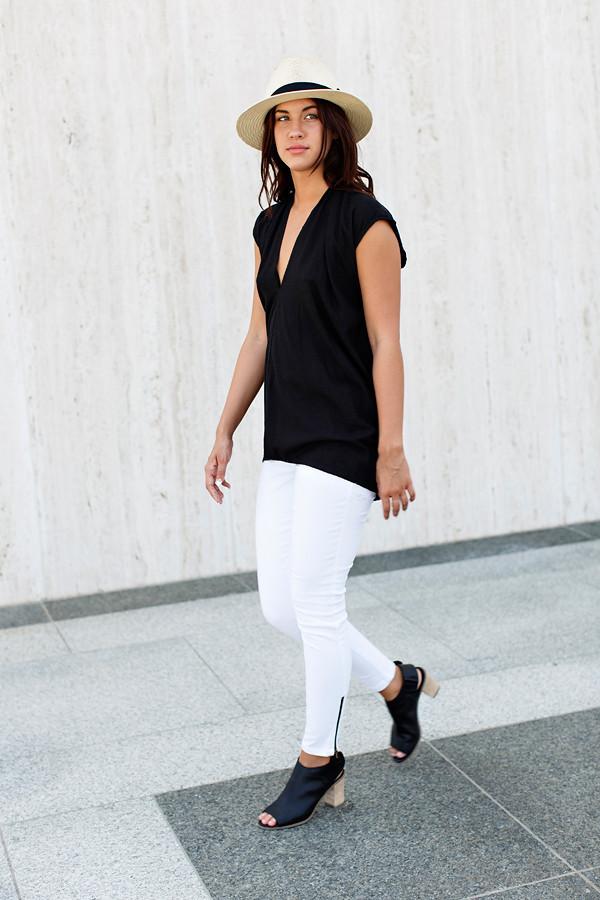 Miranda Bennett Black Everyday Top | Silk