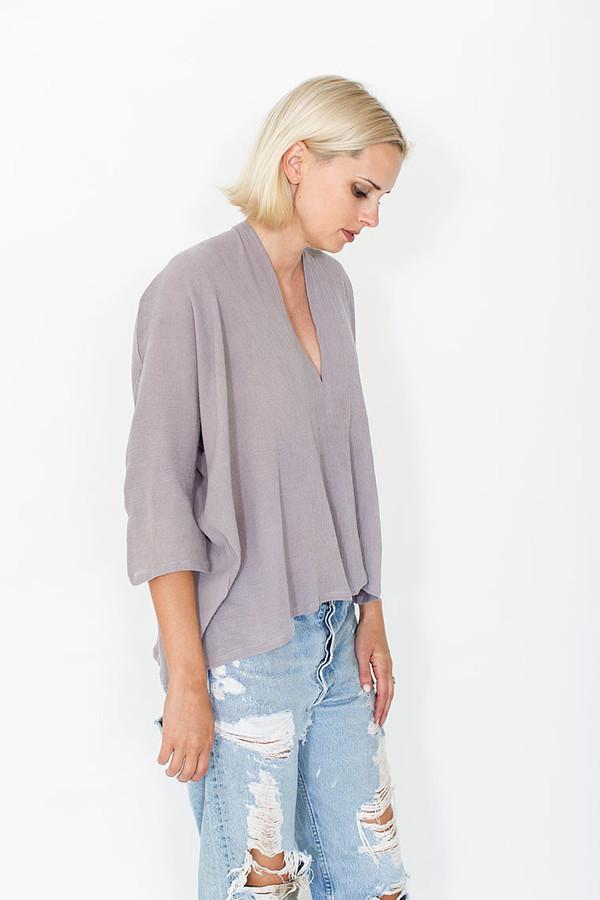 Miranda Bennett Salton Muse Top, Cotton Gauze