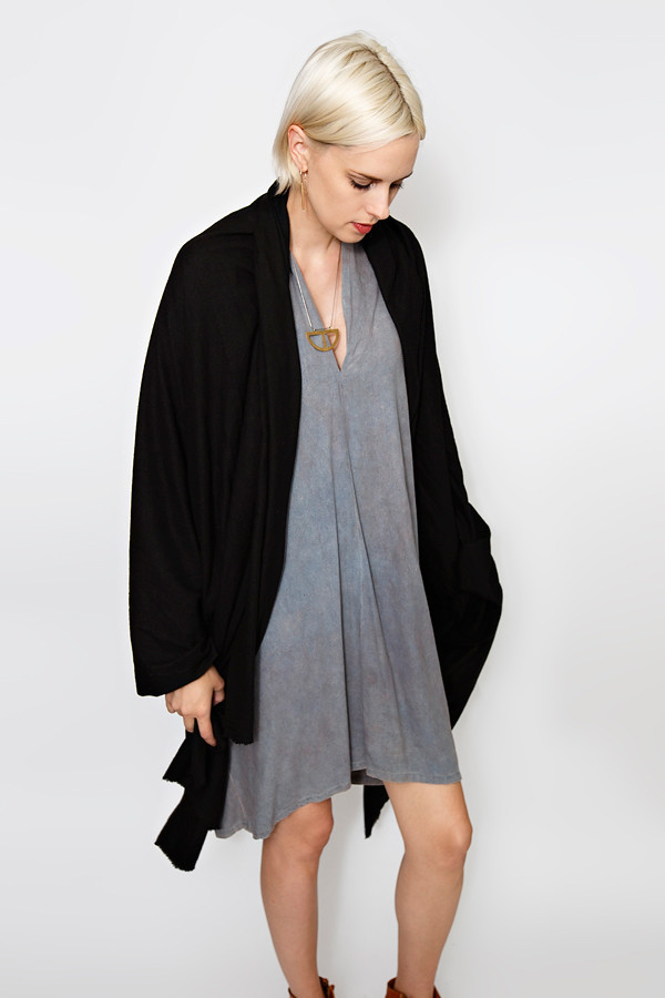 Miranda Bennett Black Raw Silk Textile