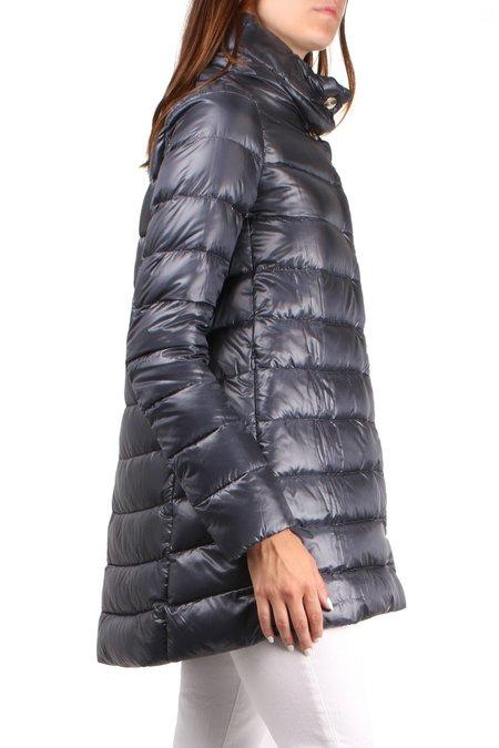 Herno Classic Nylon Hilo Coat - Mid Navy