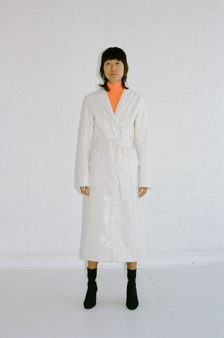 Nomia Belted Trench Coat - Cream