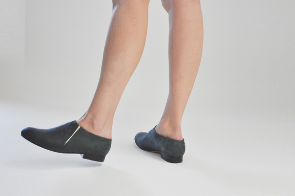 The Palatines Fides Pull-On Bootie in Charcoal Grid