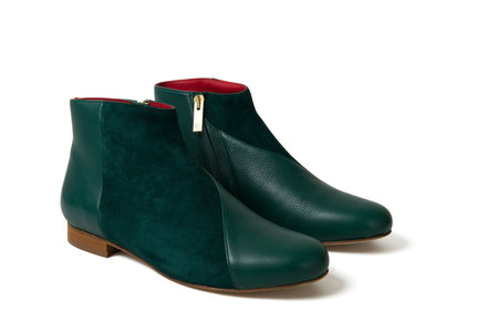 INLU Low heel boots - Forest Green