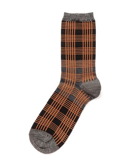 Alto Milano Catrame 270 Floppy Socks - Orange Plaid