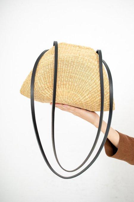 Inès Bressand Akamae Basket No. 14 Large Embossed Elephant Grass Shoulder Bag