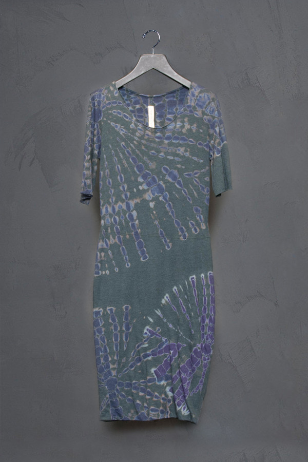 Raquel Allegra Short Sleeve Fitted Dress