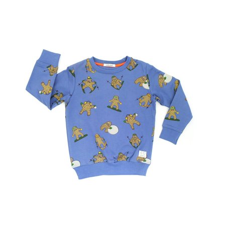 kids indikidual ball yeti all over print sweatshirt - navy blue