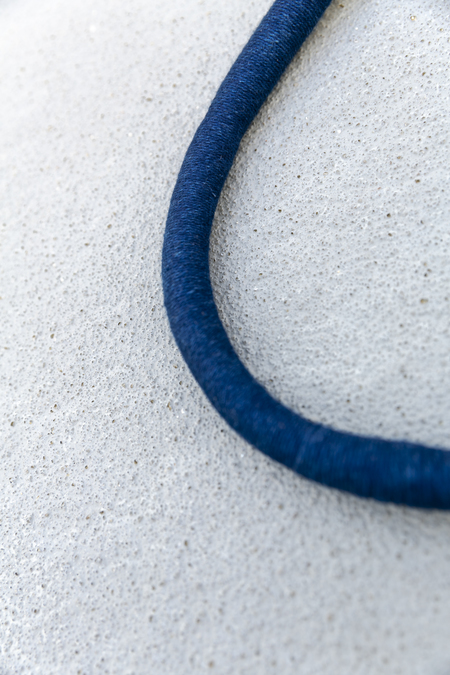 CAVE COLLECTIVE WRAPPED NECKLACE - NAVY