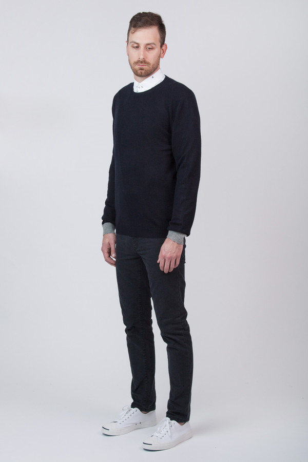 Men's Chinti and Parker Cashmere Contrast Cuff Sweater