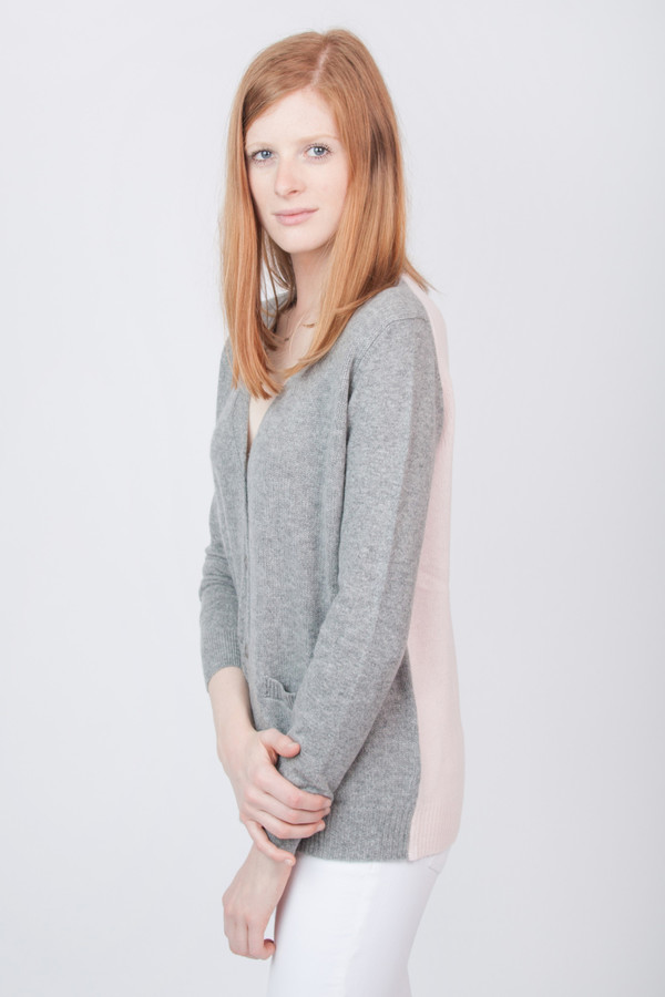 Chinti and Parker Cashmere Two Tone Cardigan