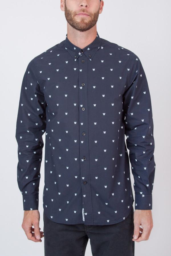 Men's Wood Wood Damien Shirt Navy