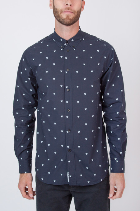 Wood Wood Damien Shirt - Navy