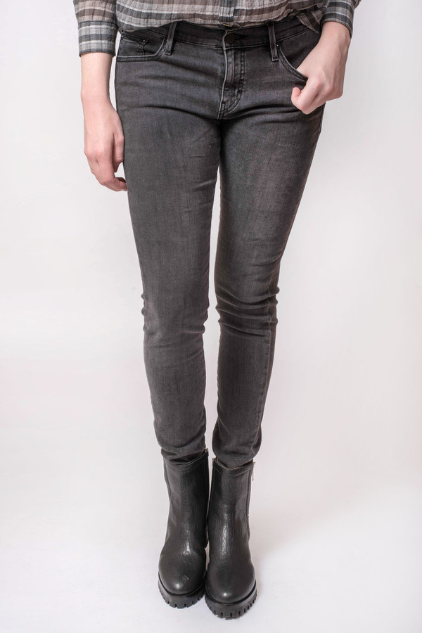 Earnest Sewn Jane Midrise Skinny Jean Metropolis Black