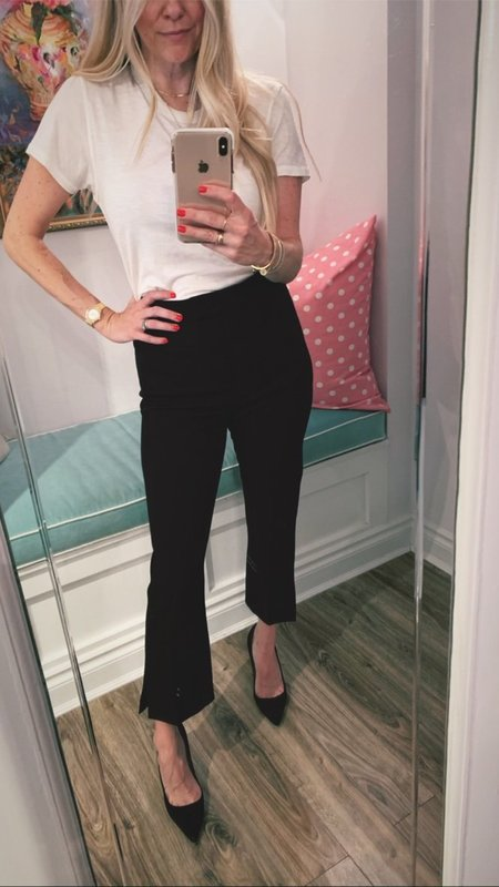 Camilla and Marc Marsh High Rise Pant with Side Slit - Black