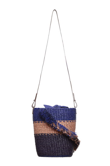 AAKS Lamé Ruffle Bag - Blue
