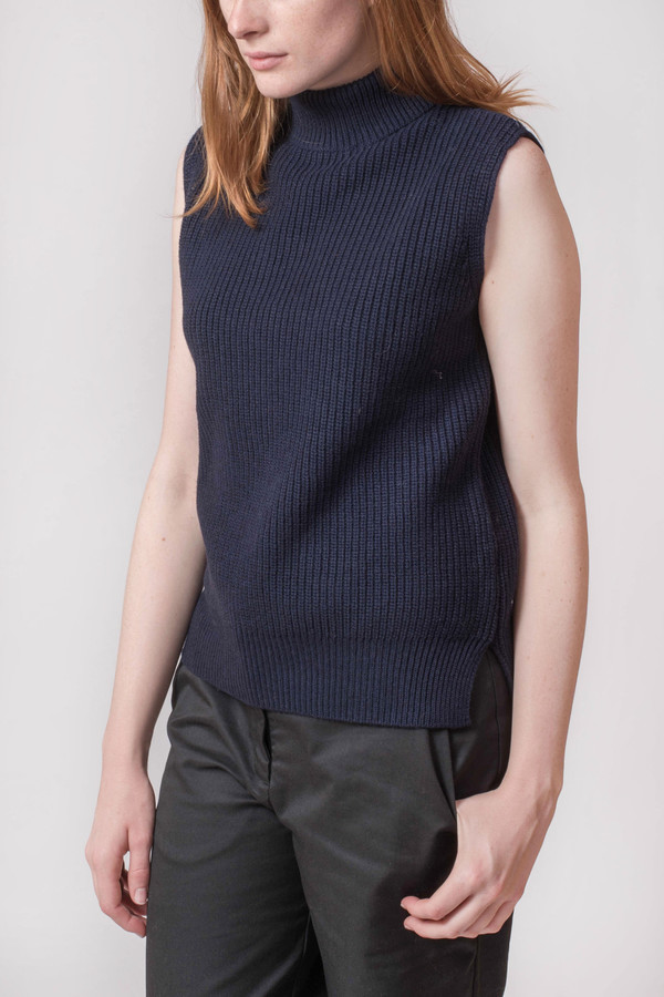 YMC Rib Sleeveless Turtleneck