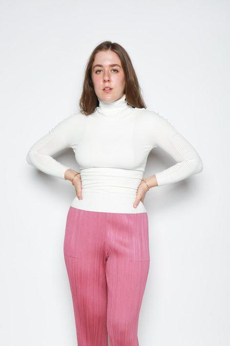 Issey Miyake A-POC Skin Turtleneck Shirt - White