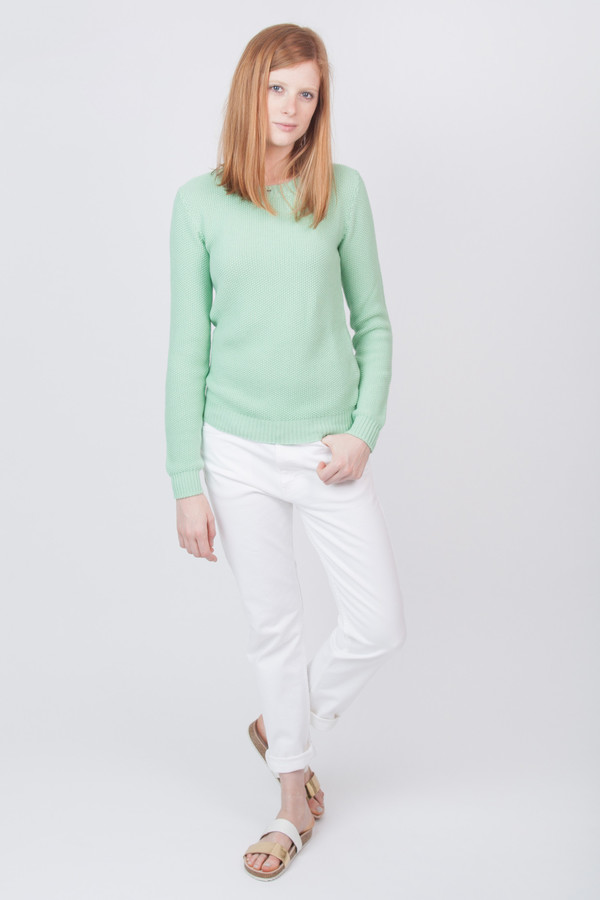 YMC Structured Long Sleeve Knit Mint