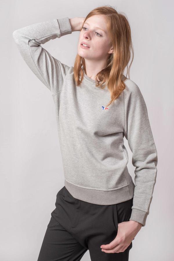 Maison Kitsune Tri Color Patch Sweatshirt
