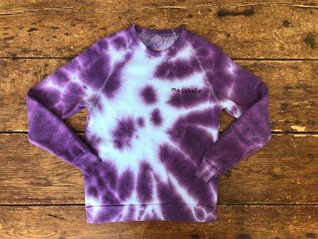 The Masshole Project Masshole Sweatshirt - Purple Tie-Dye