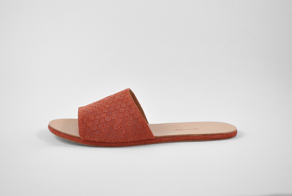 The Palatines Caelum slide sandal - clay hex leather