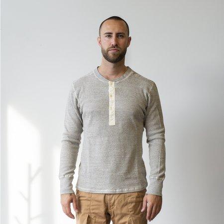 Homespun Knitwear Coalminer Mil-Spec Thermal Henley - Grey