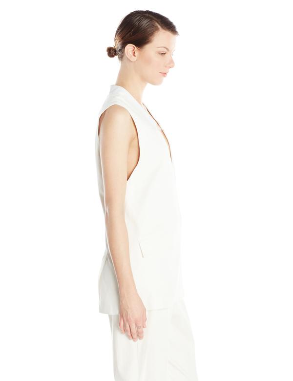 Vincetta White Notch Vest