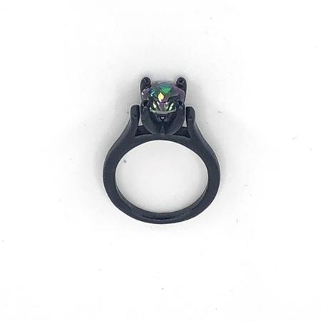 Funhouse Labs Ring - Matte Black/Mystic Topaz