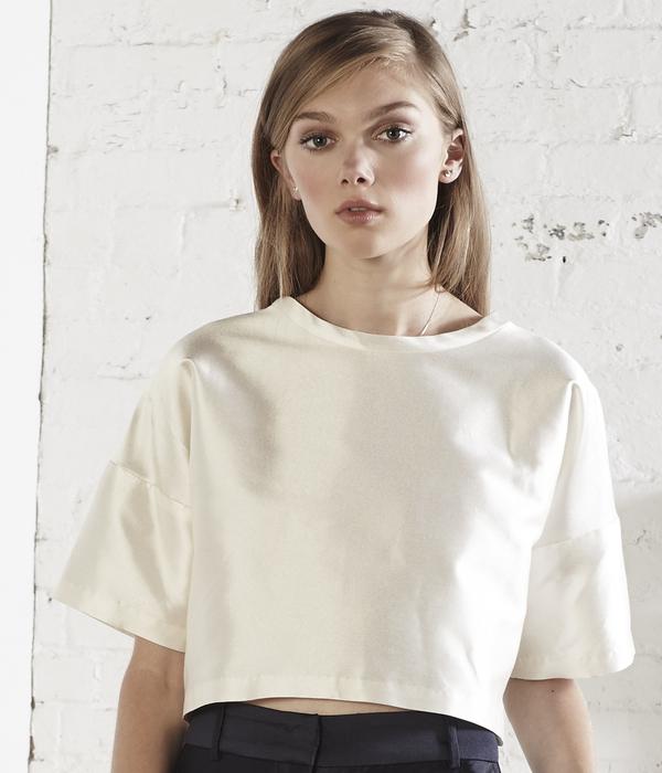 Nikki Chasin Kit Crop Top - Ivory