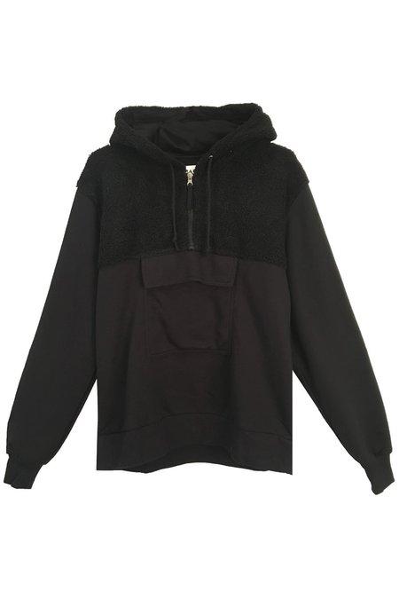 L.F.Markey Glendon Sweatshirt - Black Sherpa