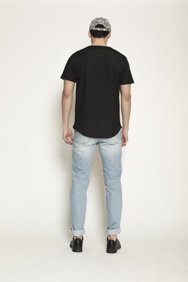 Men's Soulland Gummy Black Shirt in Black